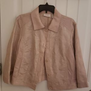 CHICO'S BEAUTIFUL BLUSH COLOR JACKET